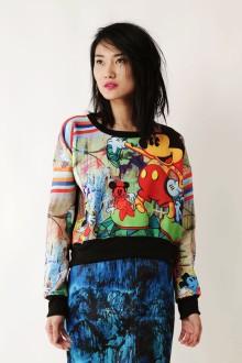 Multicolor Sweatshirt Mickey