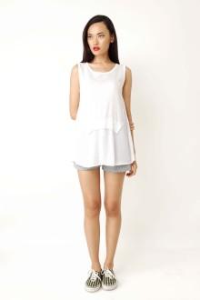 White Knit Sleeveless Top
