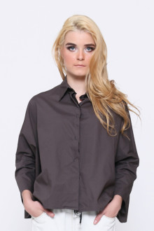 Grey Batwing Loose Shirt