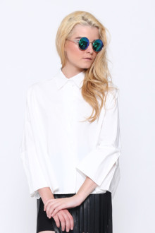 White Batwing Loose Shirt