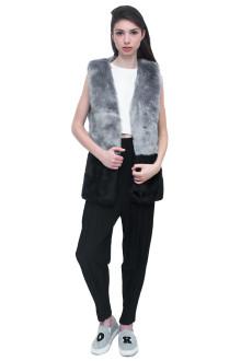 Bi-color Faux Fur Gilet