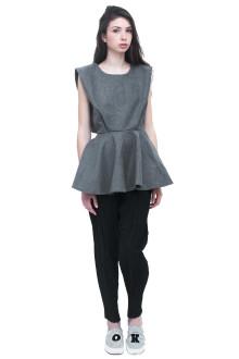 Grey Woolen Peplum top