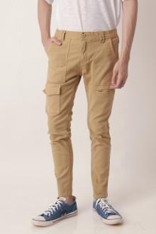 Brown Skinny Cargo Pants