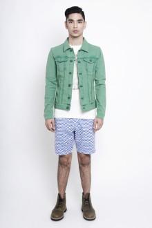 Blue Geometric Triangle Shorts