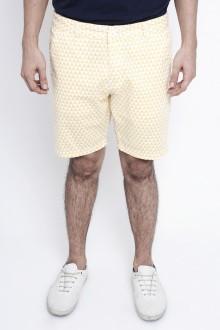 Yellow Geometric Triangle Shorts