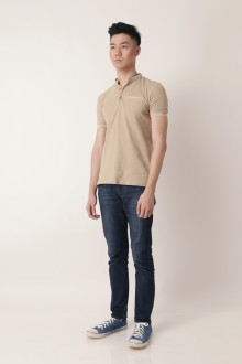 Brown Shanghai Tang Polo Shirt