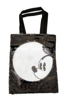 Black Mickey Sequin Tote Bag