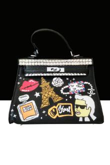Black Paris Stud Bag