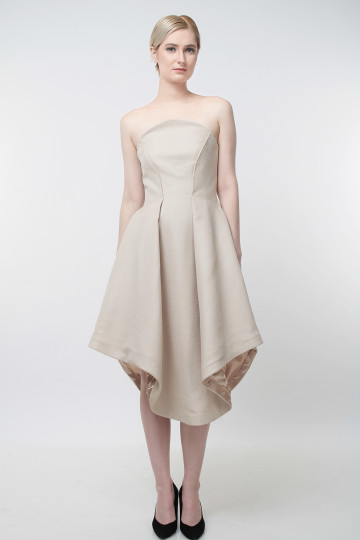 Ophire Flare Dress Nude image