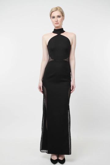 Olisha Long Dress Black image