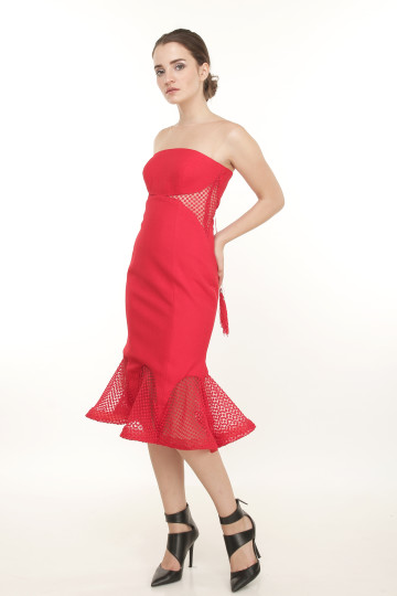 Octopus Dress Red image