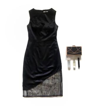 SAFFRON DRESS - BLACK image