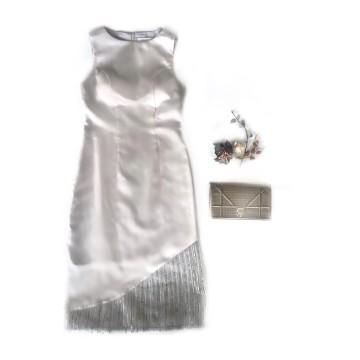 SAFFRON DRESS - GRAY image