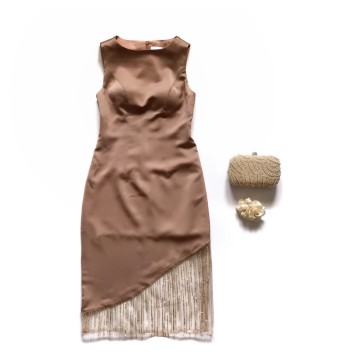 SAFFRON DRESS - GOLD image