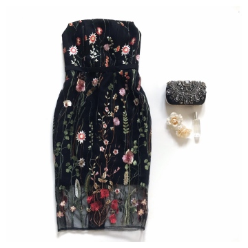 PANSY DRESS - BLACK image