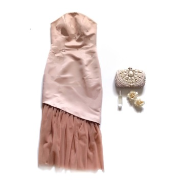 ROSEMARY DRESS - NUDE PINK image