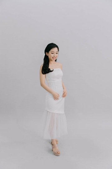 ROSEMARY DRESS - WHITE image