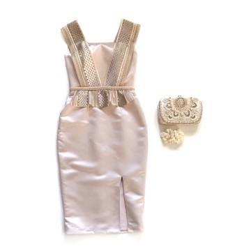VINCA DRESS - NUDE image