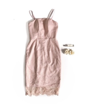 PLUME DRESS - PINK image