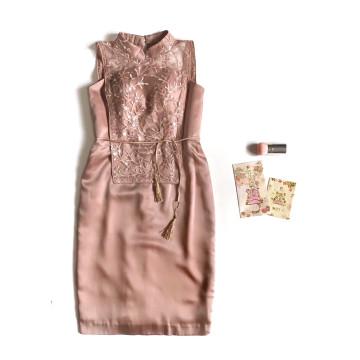 MEI LIEN CHEONGSAM DRESS - PINK image