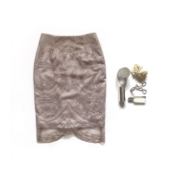 CASSIA SKIRT - ROSY BROWN image