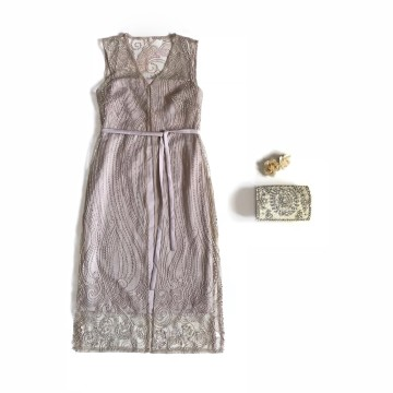PROTEA DRESS - ROSY BROWN image