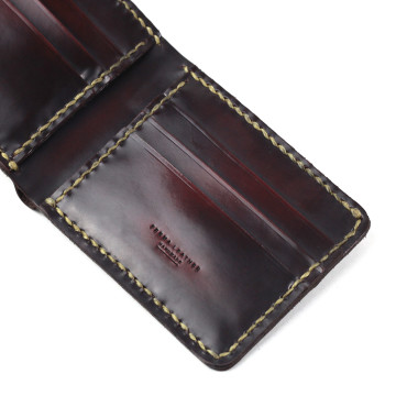 Mahakam Wallet Maroon Brush off