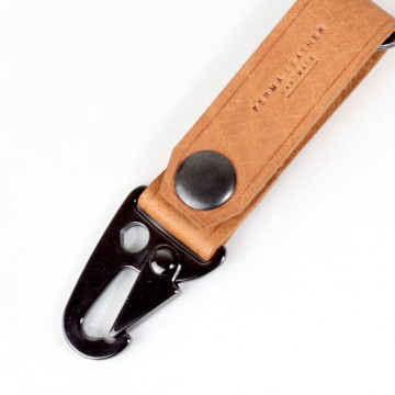 Plain Military Keychain Brown