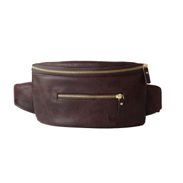 Taruma Vintage Pull Up Dark Brown Waist Bag