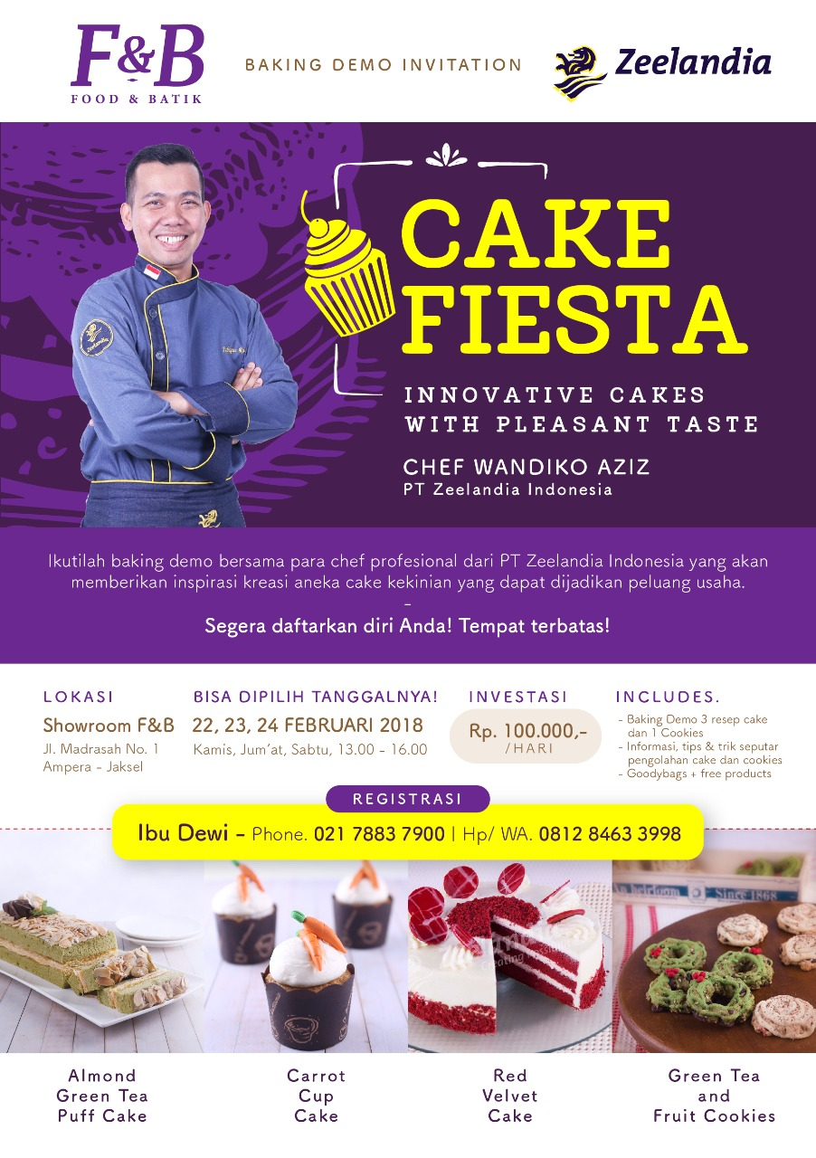 """Cake Fiesta"" with PT. Zeelandia Indonesia image"