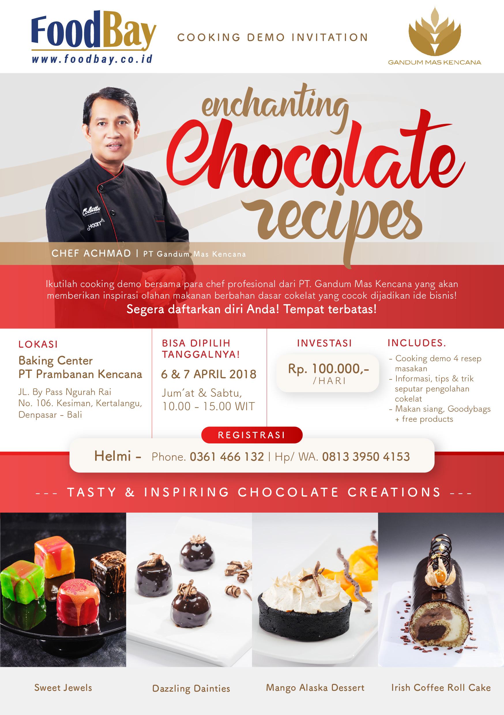 "Cooking Demo Bali ""Enchanting Chocolate Recipes"" image"