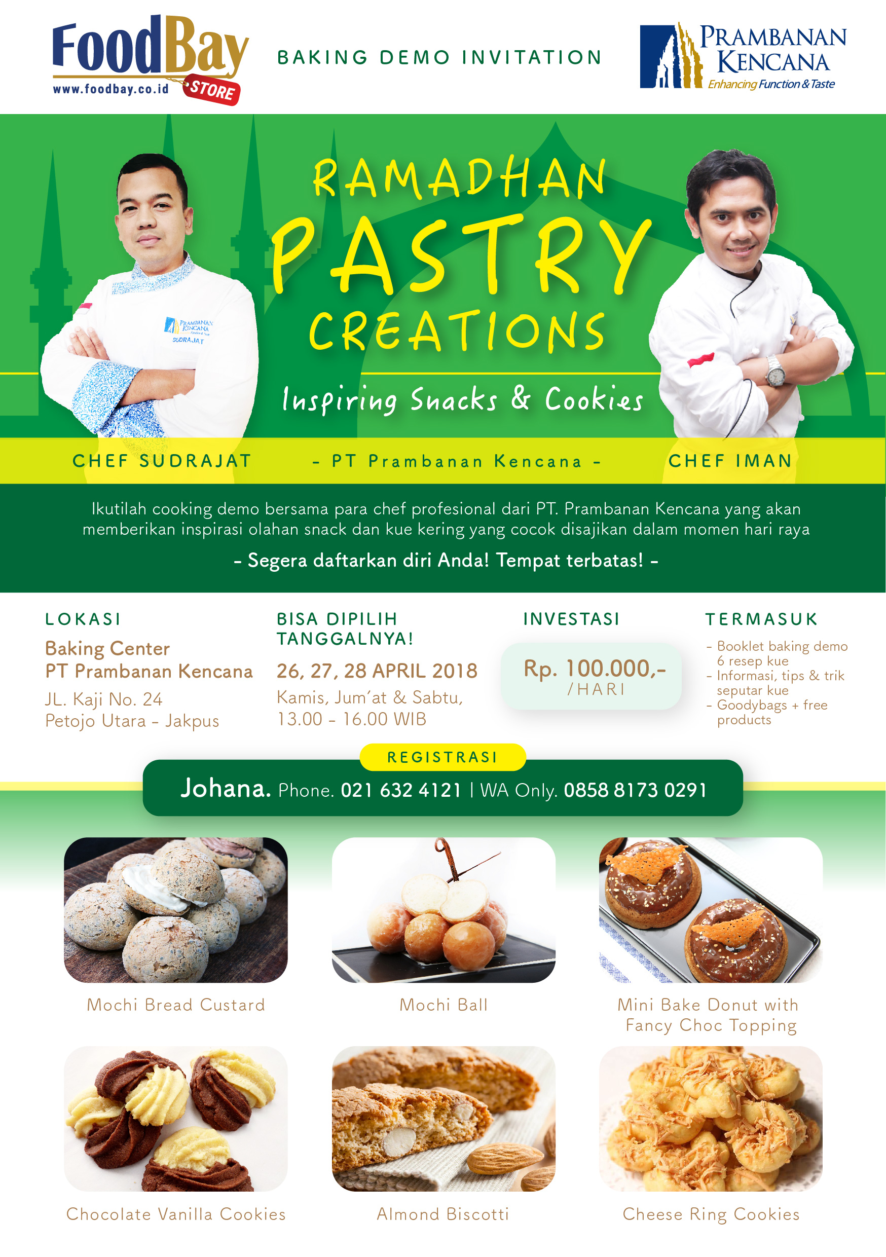"""Cooking Demo """"Ramadhan Pastry Creations"""" image"""