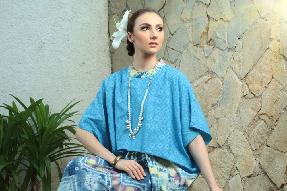 SHARMA KAFTAN DRESS CERULEAN BLUE
