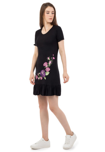 TANCA BLACK DRESS (DS 1370)