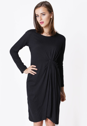 BLACK MONTANA DRESS (DS 1242)