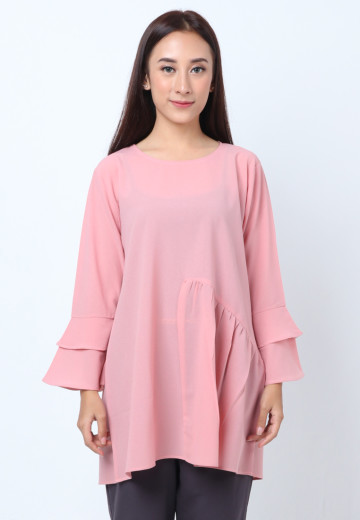 GEE EIGHT PINK BLOUSE TULIP (T3246)