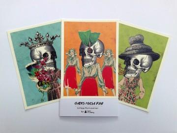 """""""Gadis Masakini"""" Postcard image"""