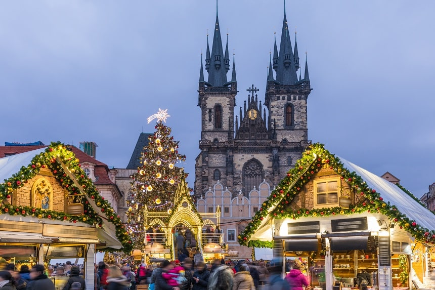 Pasar Natal di Praha