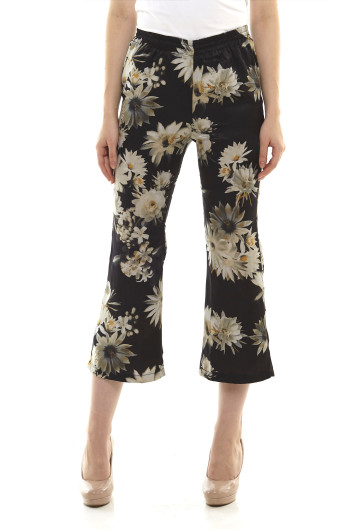 Noa Floral Cropped Flared Pants