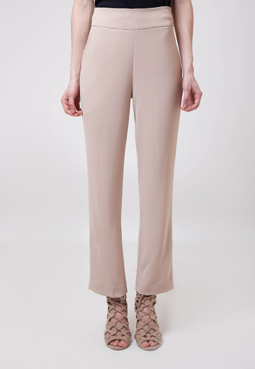 Lori Beige Wide-leg Pants