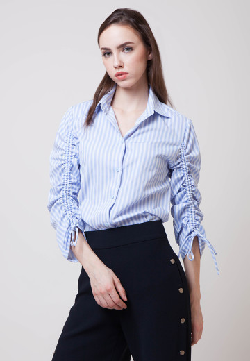 Joanna Crisp Stripes Cotton Shirt