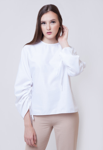 Thalia  Crisp White Cotton Shirt