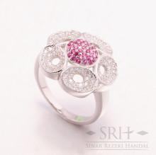 CC00147 Flower Pink Ring