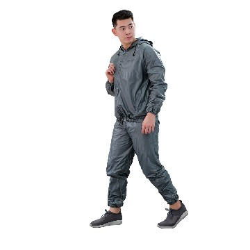 SAUNA SUIT WITH ZIPPER AND HOOD