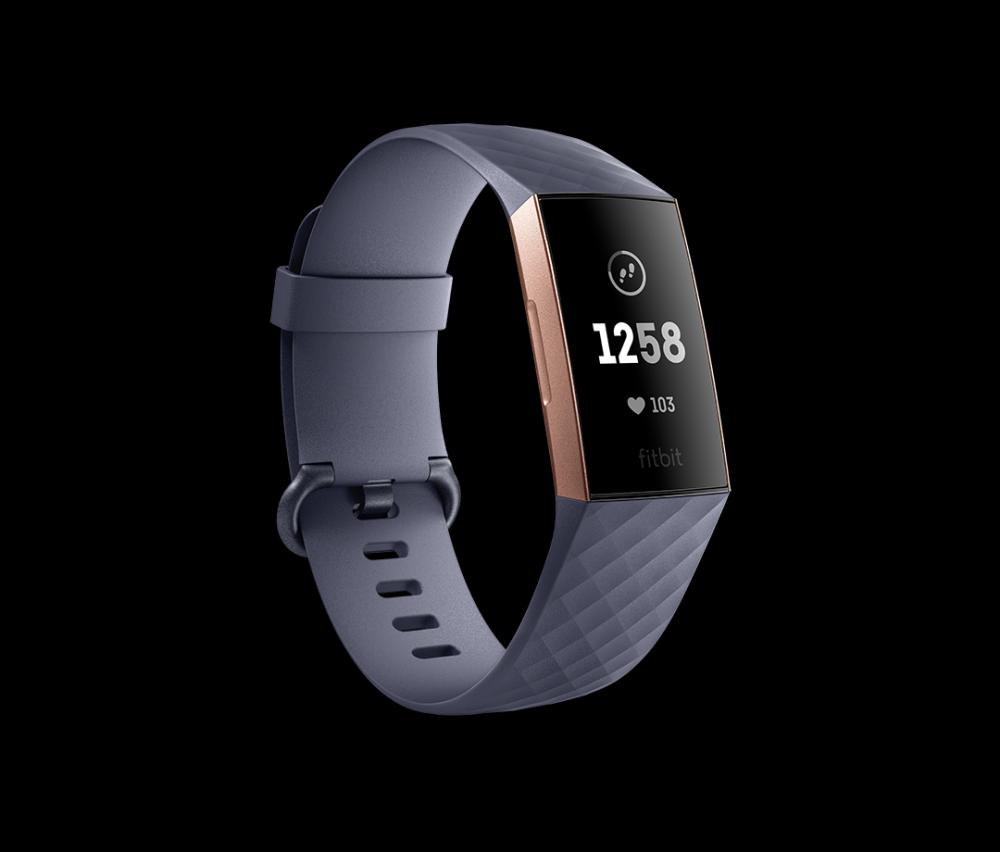 Charge 3 Blue Gray/Rose Gold Aluminium Tracker