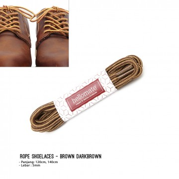 Tali Sepatu Rope - Brown Dark Brown image