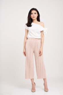 Lourine Tied Top - White (Adjustable Tie)