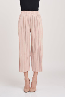 Pleated Midi Cullotes - Cream