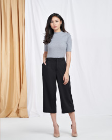 Basic Nirina Top - Grey (Cotton Stretch)