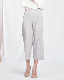 Pleated Midi Cullotes - Grey